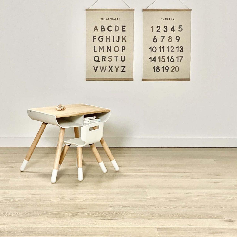 engineered Hardwood floor classroom